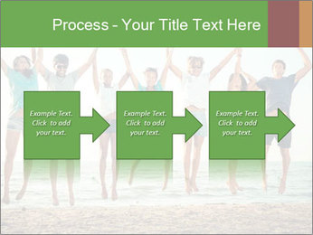 People Jumping at Beach PowerPoint Template - Slide 88