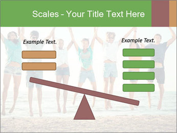 People Jumping at Beach PowerPoint Template - Slide 89