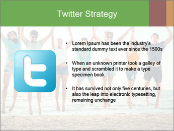 People Jumping at Beach PowerPoint Template - Slide 9