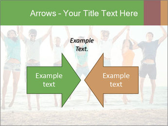 People Jumping at Beach PowerPoint Template - Slide 90