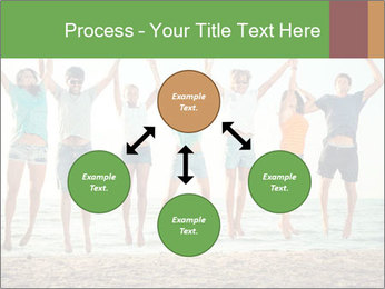 People Jumping at Beach PowerPoint Template - Slide 91