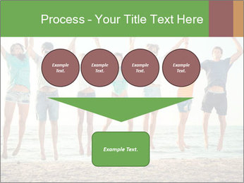 People Jumping at Beach PowerPoint Template - Slide 93