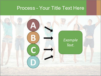 People Jumping at Beach PowerPoint Template - Slide 94