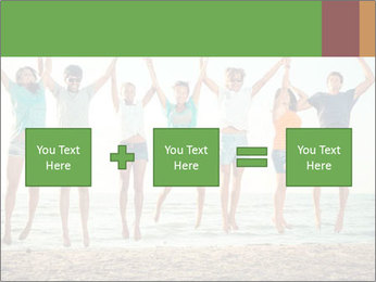 People Jumping at Beach PowerPoint Template - Slide 95