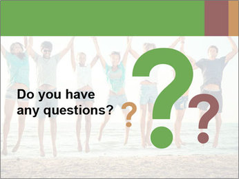 People Jumping at Beach PowerPoint Template - Slide 96