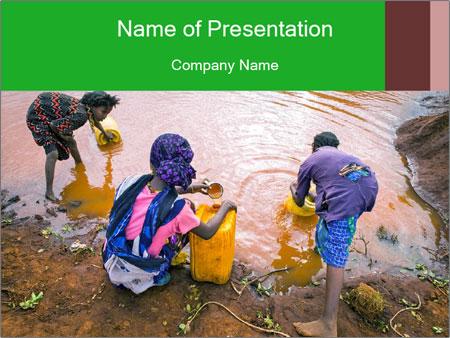 Village girls PowerPoint Templates