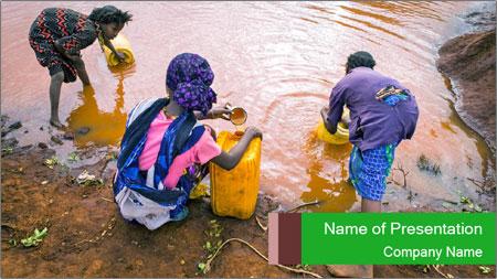 Village girls PowerPoint Template