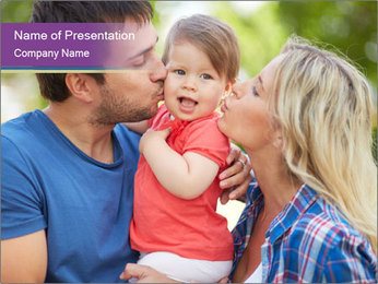 Photo of affectionate parents PowerPoint Template - Slide 1