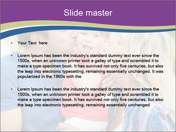Photo of affectionate parents PowerPoint Template - Slide 2