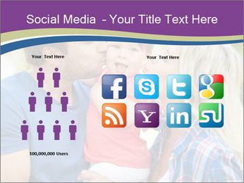 Photo of affectionate parents PowerPoint Template - Slide 5