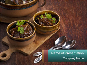 Vegetarian stew PowerPoint Templates - Slide 1