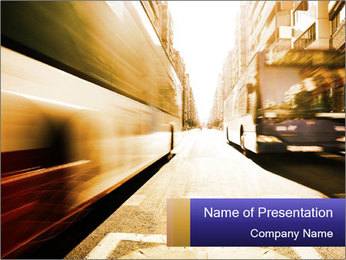 Motion blurred PowerPoint Templates - Slide 1