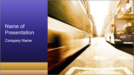 Motion blurred PowerPoint Template