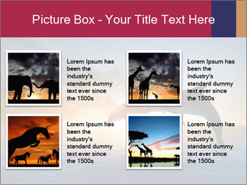 Couple jumping dolphins PowerPoint Template - Slide 14