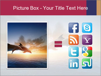 Couple jumping dolphins PowerPoint Template - Slide 21