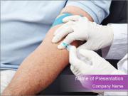Man giving blood donation Modèles des présentations  PowerPoint
