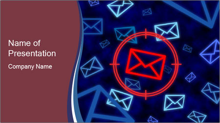 Email icon PowerPoint Template