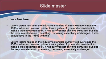 Email icon PowerPoint Template - Slide 2