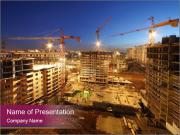 Tower cranes build PowerPoint Templates