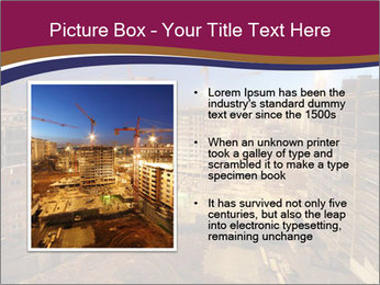 Tower cranes build PowerPoint Template - Slide 13