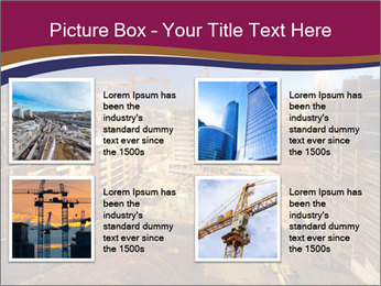 Tower cranes build PowerPoint Template - Slide 14