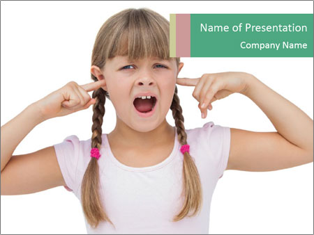 Little girl PowerPoint Template