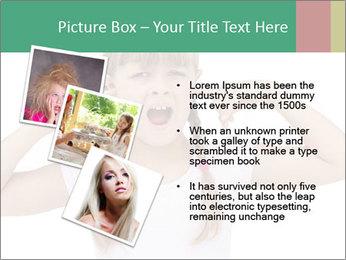 Little girl PowerPoint Template - Slide 17