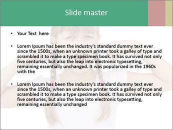 Little girl PowerPoint Template - Slide 2