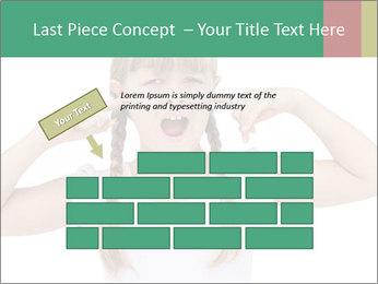 Little girl PowerPoint Template - Slide 46