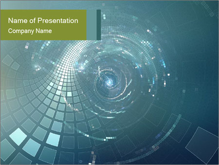 3D abstract science PowerPoint Templates