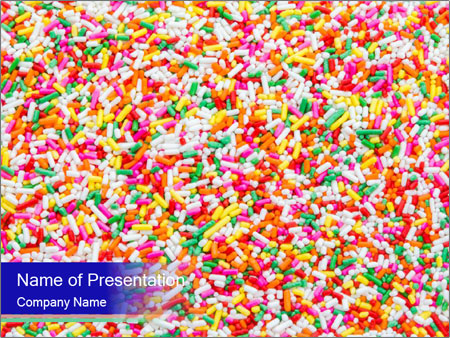 Sugar sprinkle PowerPoint Template