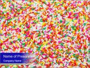 Sugar sprinkle PowerPoint Templates