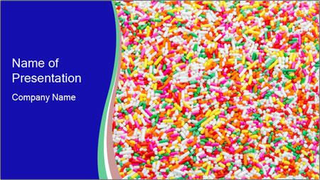 Sugar sprinkle PowerPoint Template