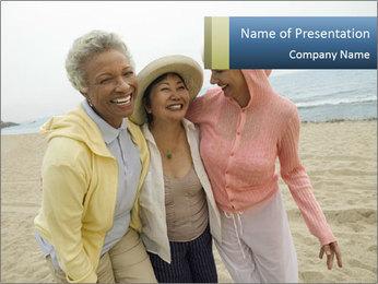 Female friends PowerPoint Templates - Slide 1