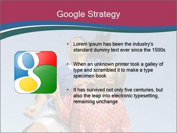 Girls heading soccer ball PowerPoint Template - Slide 10