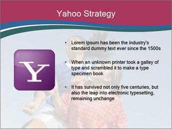 Girls heading soccer ball PowerPoint Template - Slide 11