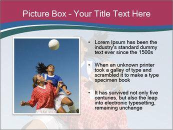 Girls heading soccer ball PowerPoint Template - Slide 13