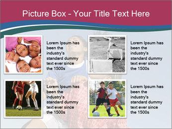 Girls heading soccer ball PowerPoint Template - Slide 14