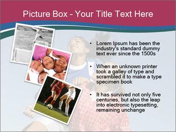 Girls heading soccer ball PowerPoint Template - Slide 17