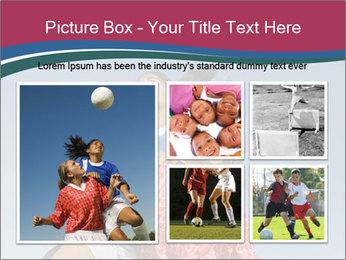 Girls heading soccer ball PowerPoint Template - Slide 19