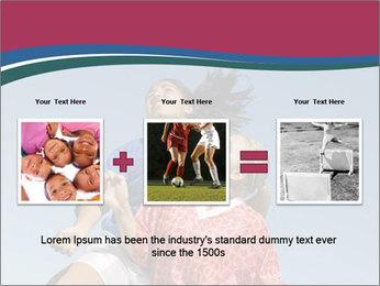 Girls heading soccer ball PowerPoint Template - Slide 22