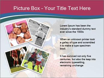 Girls heading soccer ball PowerPoint Template - Slide 23