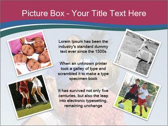 Girls heading soccer ball PowerPoint Template - Slide 24