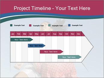 Girls heading soccer ball PowerPoint Template - Slide 25