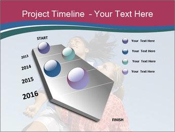 Girls heading soccer ball PowerPoint Template - Slide 26