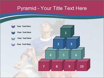 Girls heading soccer ball PowerPoint Template - Slide 31