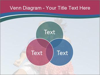 Girls heading soccer ball PowerPoint Template - Slide 33