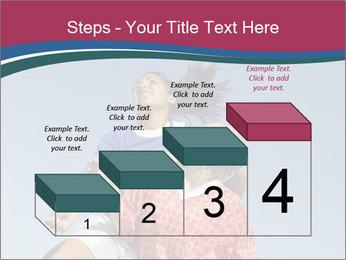 Girls heading soccer ball PowerPoint Template - Slide 64