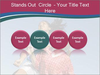 Girls heading soccer ball PowerPoint Template - Slide 76