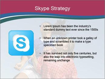 Girls heading soccer ball PowerPoint Template - Slide 8
